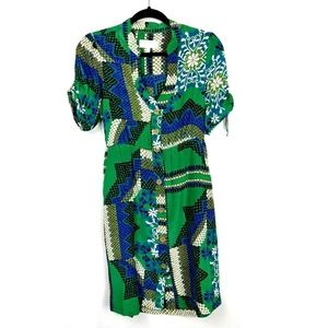 Moulinette Soeurs Anthro Abstract Print Dress